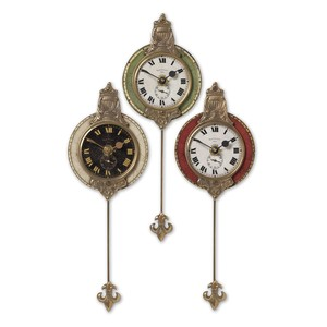Monarch Wall Clock Set of 3 | The Uttermost Company