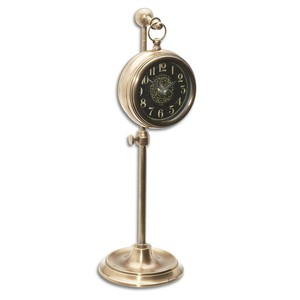 Pocket Watch Brass Woodburn | The Uttermost Company