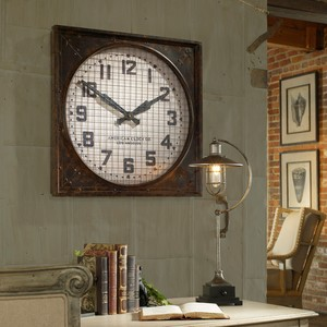 Warehouse Wall Clock w/Grill