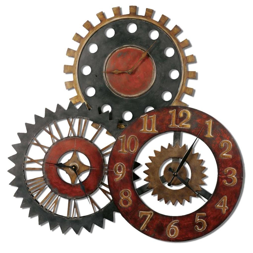 Rusty Movements Wall Clock | The Uttermost Company