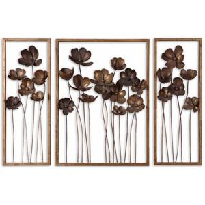 Metal Tulips Wall Art - Set of Three