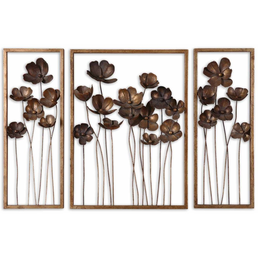 Metal Tulips Wall Art - Set of Three | The Uttermost Company