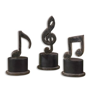 Music Notes Metal Figurines