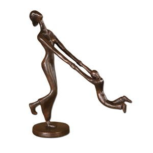 At Play Mother and Child Sculpture | The Uttermost Company