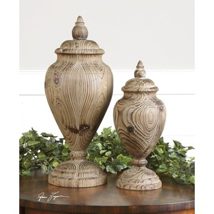 Brisco Carved Wood Finials | The Uttermost Company