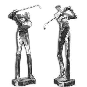 Practice Shot Metallic Statues