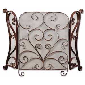 Daymeion Metal Fireplace Screen | The Uttermost Company