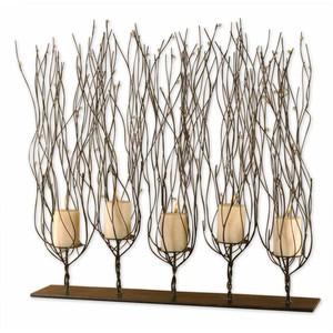Fedora Dark Brown Candleholder | The Uttermost Company