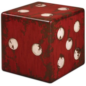 Dice Red Accent Table | The Uttermost Company