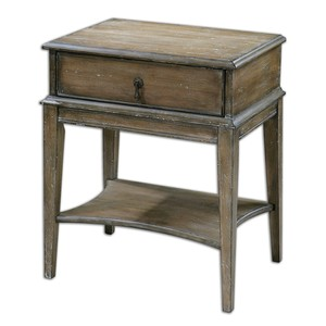 Hanford Weathered Accent Table | The Uttermost Company