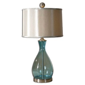Meena Blue Glass Table Lamp | The Uttermost Company