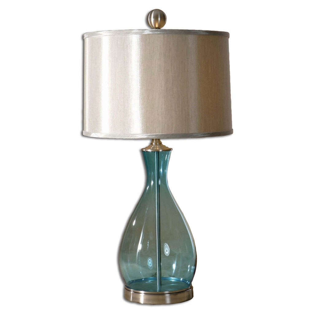 Meena Blue Glass Table Lamp   The Uttermost Company
