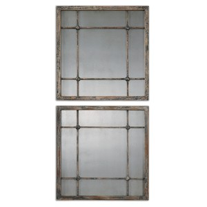 Saragano Square Wall Mirrors | The Uttermost Company