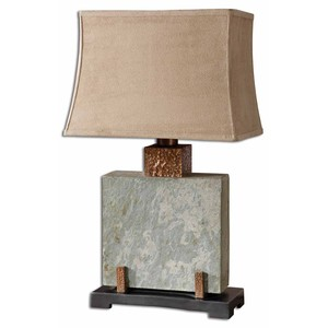 Slate Square Table Lamp | The Uttermost Company