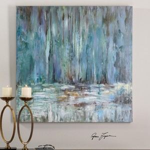 Blue Waterfall Wall Art