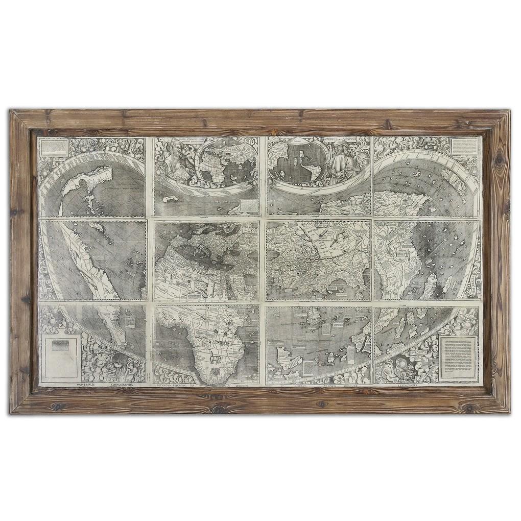 Treasure Map Wall Art | The Uttermost Company
