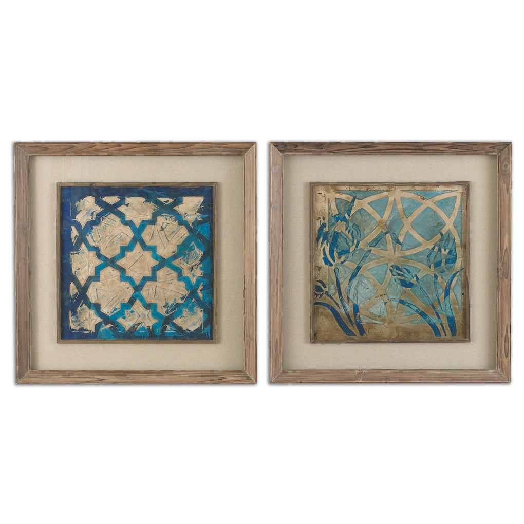 Stained Glass Indigo Wall Art | The Uttermost Company