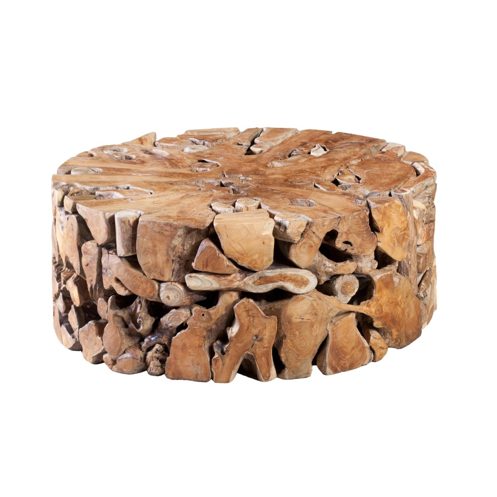 Round Teak Slice Coffee Table | Phillips Collection