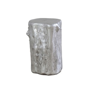 Silver Leaf Log Stool
