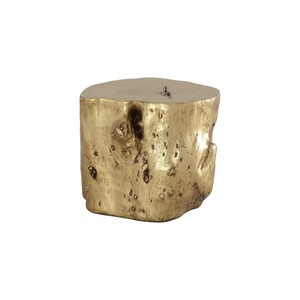 Log Stool in Gold Leaf