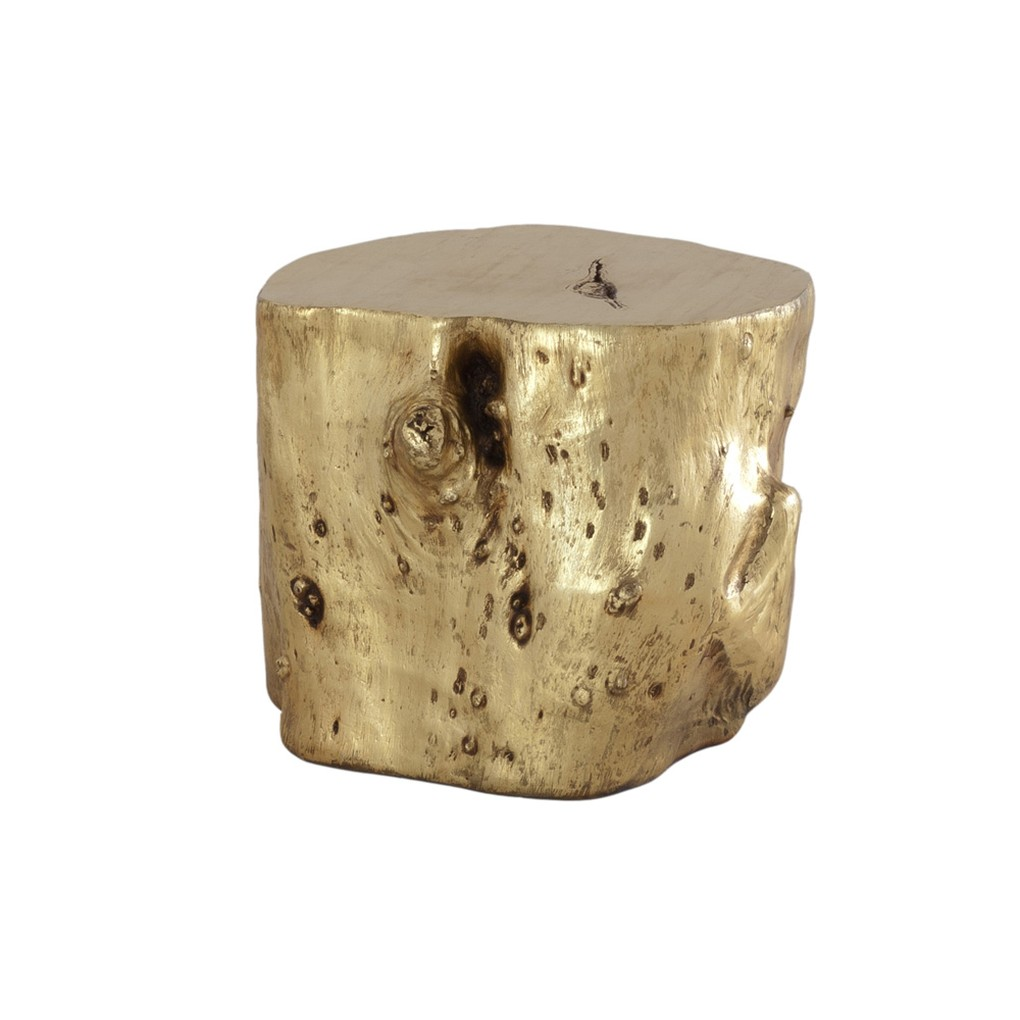 Log Stool in Gold Leaf | Phillips Collection