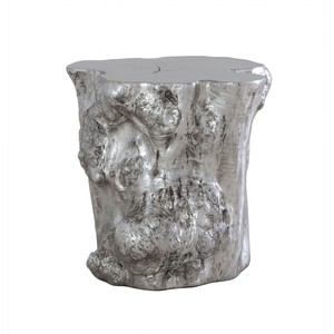 Silver Leaf Log Side Table | Phillips Collection