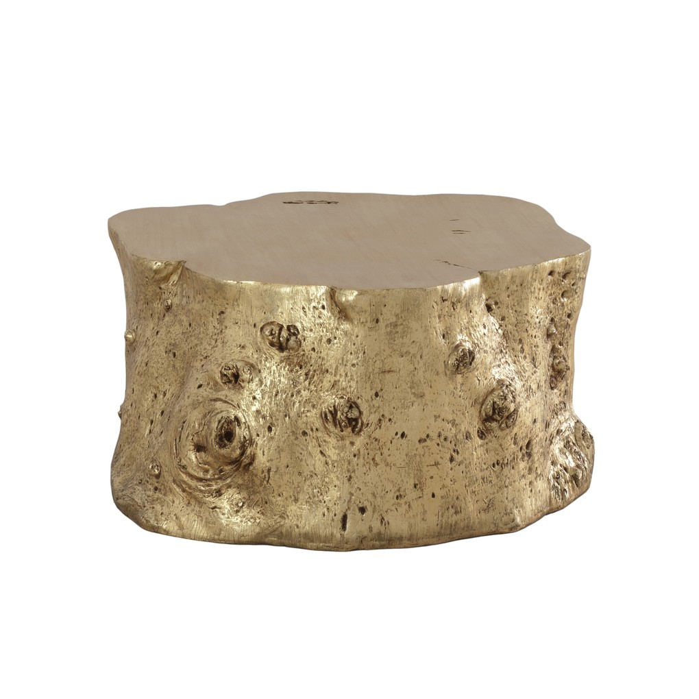 Log Cocktail Table in Gold Leaf | Phillips Collection