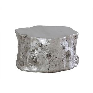 Silver Leaf Log Cocktail Table