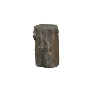 Log Stool in Bronze