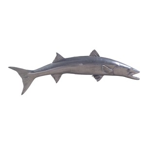Barracuda Fish in Polished Aluminum | Phillips Collection