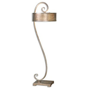 Dalou Scroll Silver Floor Lamp