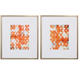 Overlapping Teal and Orange Art