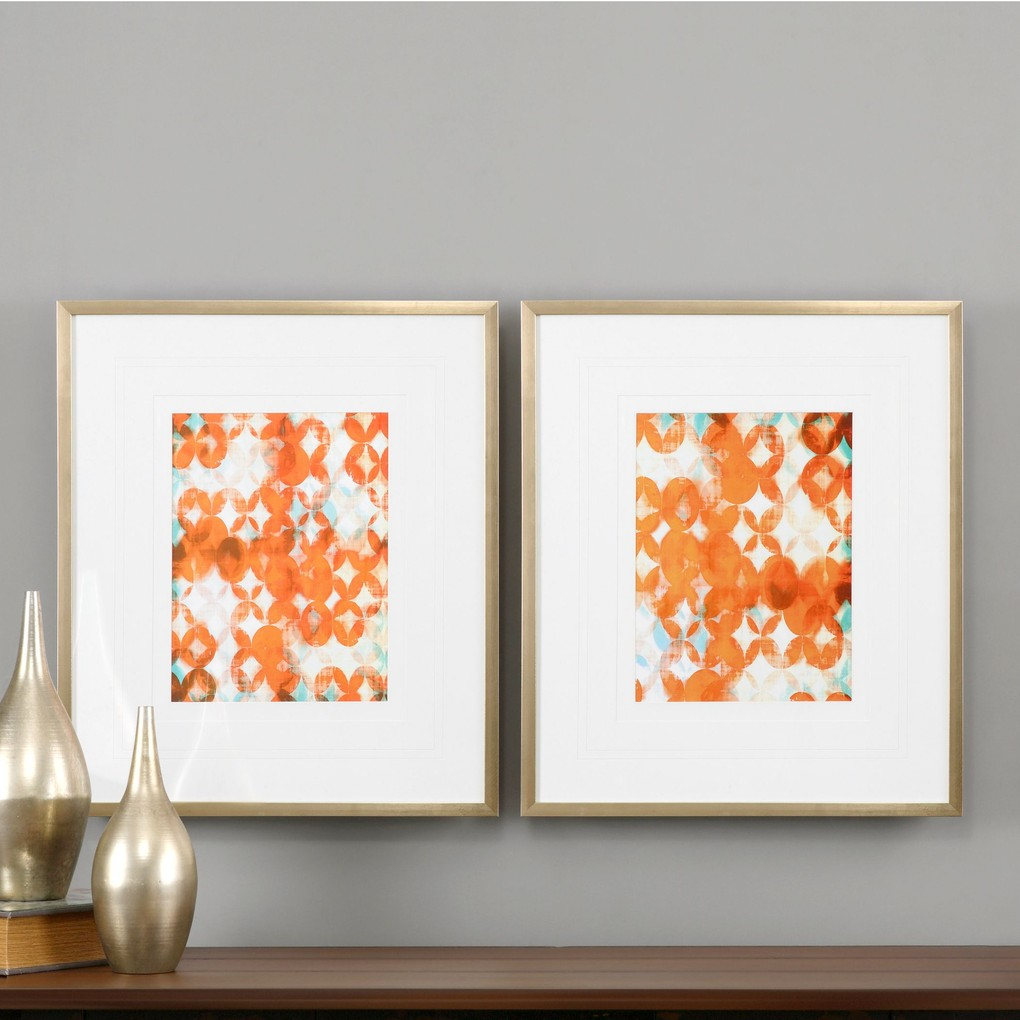 Overlapping Teal and Orange Art | The Uttermost Company