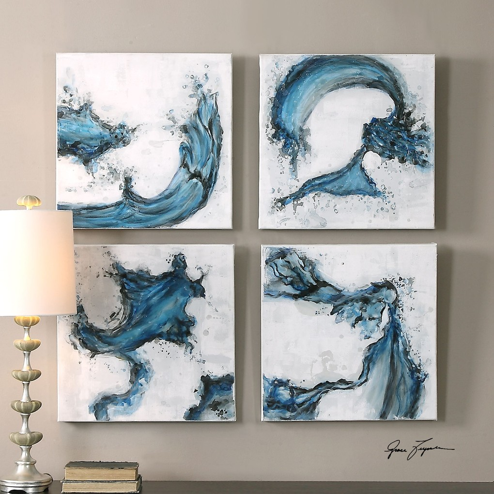 Swirls In Blue Art | The Uttermost Company