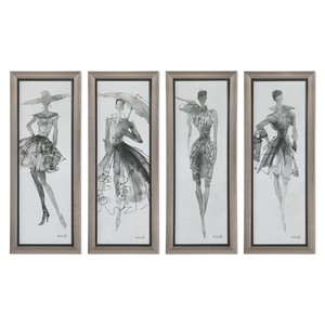 Fashion Sketchbook Art - Set of Four | The Uttermost Company