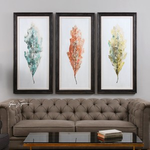 Tricolor Leaves Art - Set of Three   The Uttermost Company