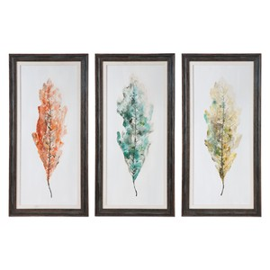 Tricolor Leaves Art - Set of Three