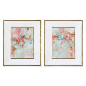 Touch of Blush and Rosewood Fences Art-Set of Two | The Uttermost Company