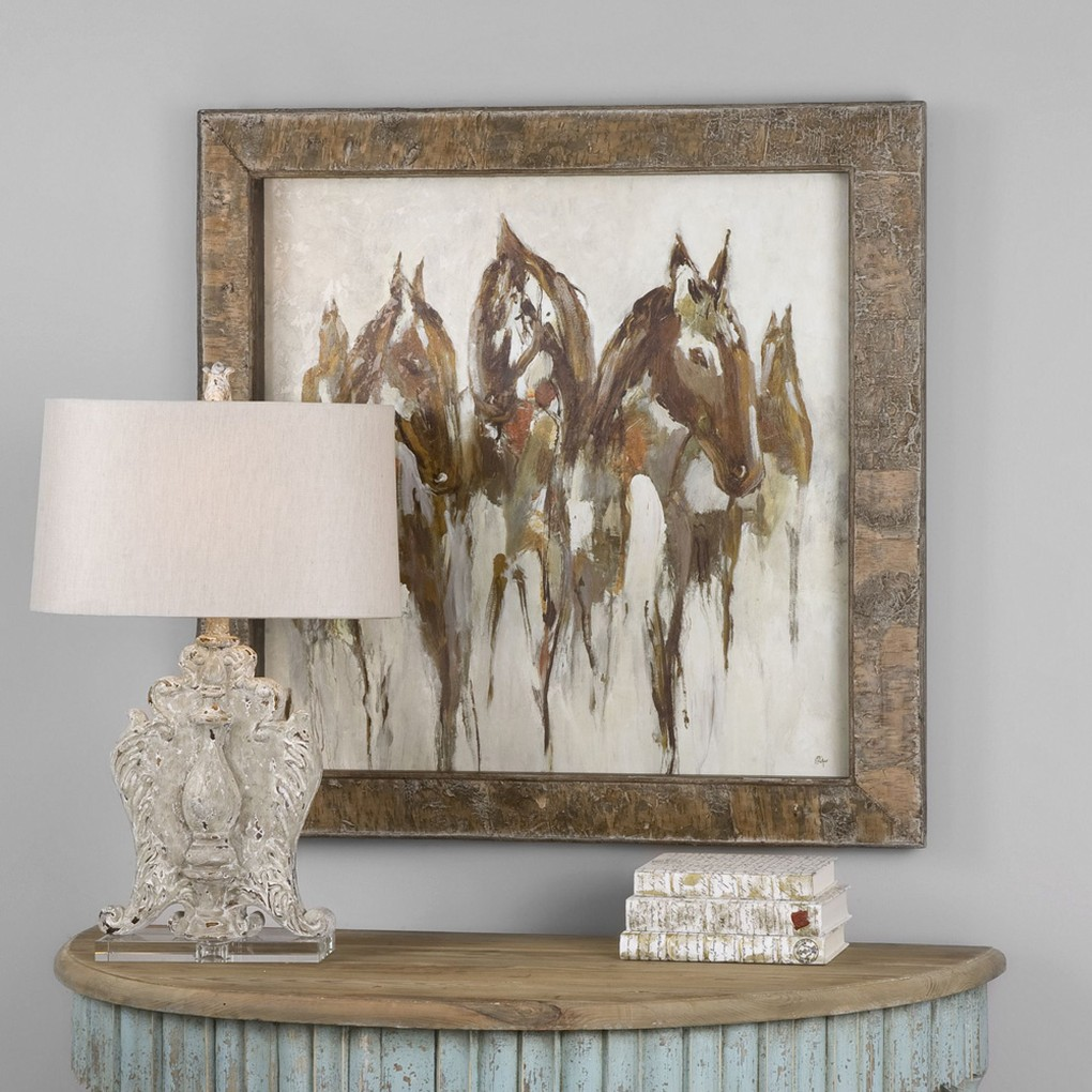 Equestrian In Browns and Golds Art | The Uttermost Company