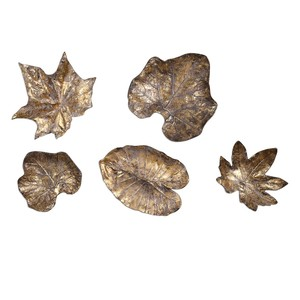Bronze Leaves Wall Décor