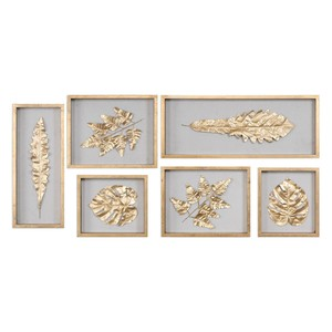 Golden Leaves Wall Shadow Box