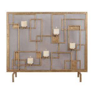 Mara Fireplace Screen Candleholder | The Uttermost Company