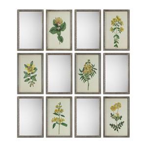 Diamond Florals and Mirrors Art