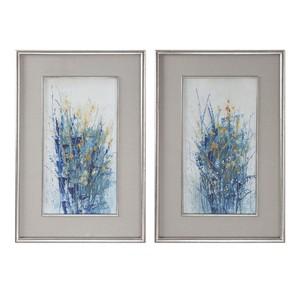 Indigo Florals Art