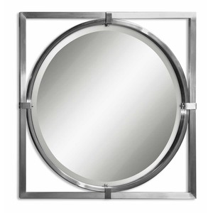 Kagami Brushed Nickel Mirror | The Uttermost Company