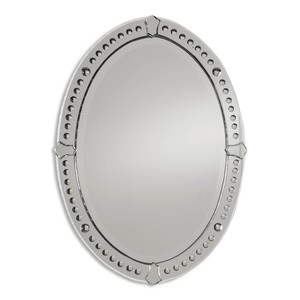Graziano Frameless Oval Mirror | The Uttermost Company