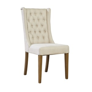 Tufted Linen Side Chair | Furniture Classics