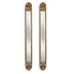 Juniper Antique Gold Mirrors - Set of Two