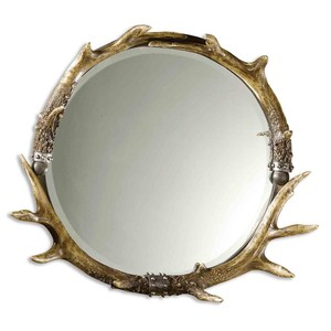 Stag Horn Round Mirror | The Uttermost Company