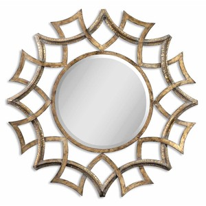 Demarco Round Antique Gold Mirror | The Uttermost Company